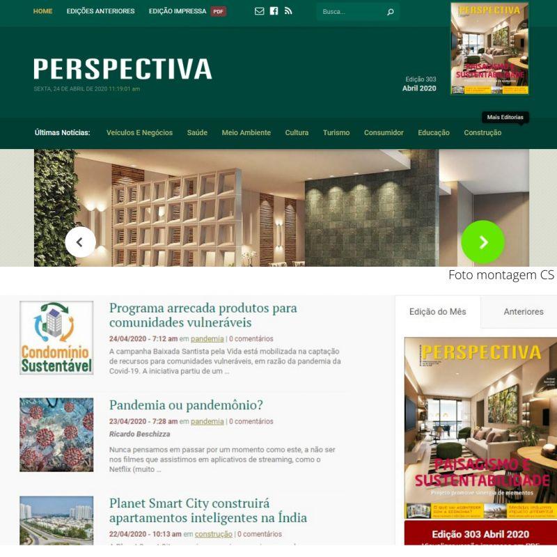 Foto montagem Jornal Perspectiva